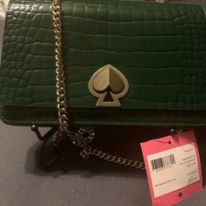 Green Kate spade crossover wallet